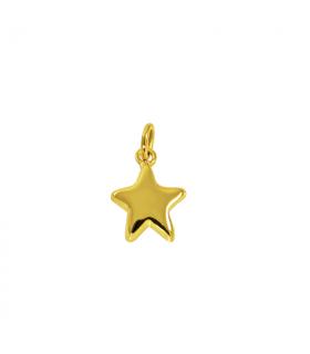 Colgante estrella en chapado de oro Electro