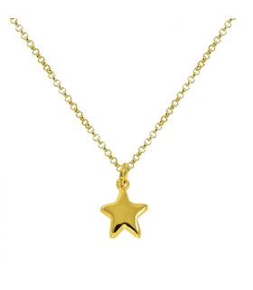 Collar estrella en chapado de oro Electro