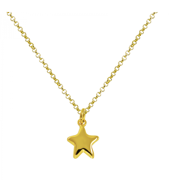 Electro gold plated star necklace