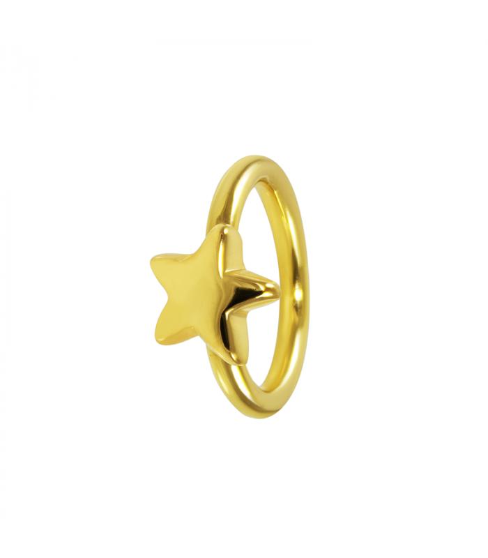 a074cee866b2 Anillo con diseño estrella en plata y plata chapada en oro 18K fabricados  mediante electroforming. Precioso y divertido anillo para llevar en tu día  a día