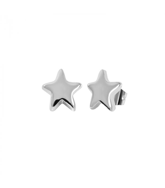 Pendiente estrella plata