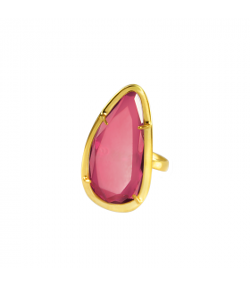 Rose stone gold ring
