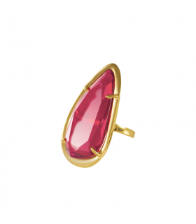 Raspberry gold ring