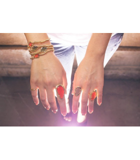 Red stones rings
