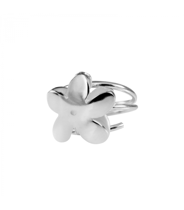 Silver jasmine ring