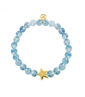 Amethyst golden star bracelet