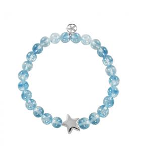 Silver star bracelet in emerald
