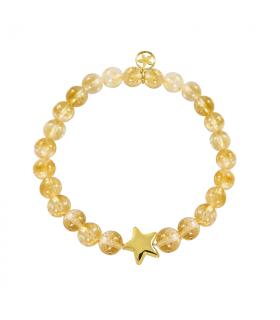 Citrine golden star bracelet