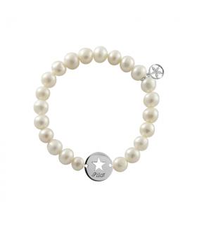 Pulsera estrella perlas