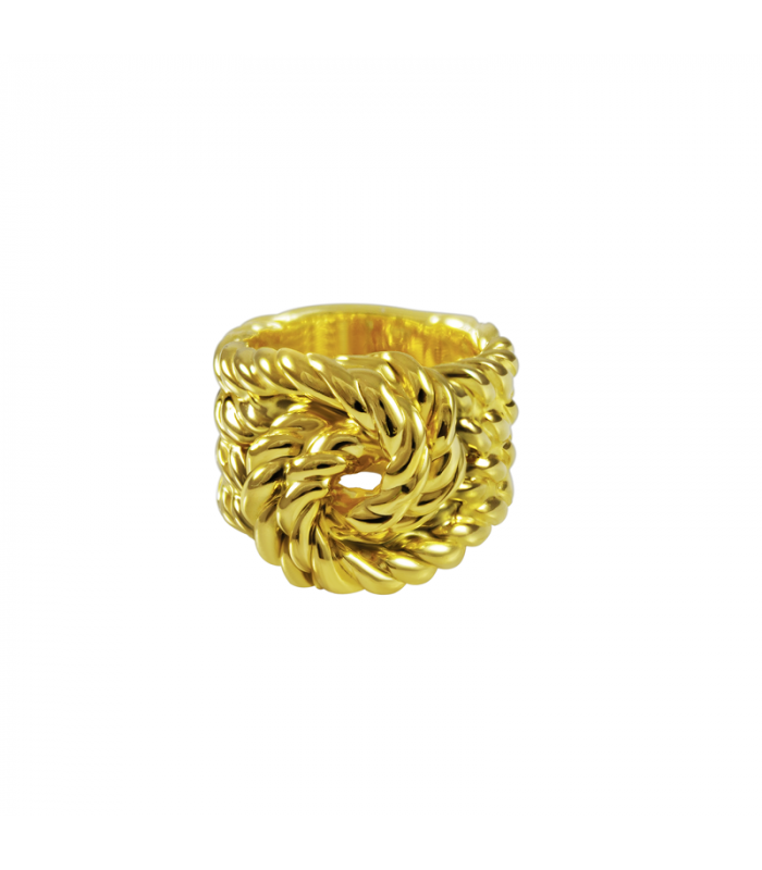 Golden knots rope ring