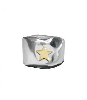 Anillo personalizado estrella oro