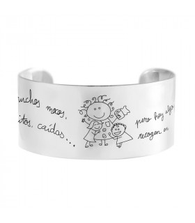 Bracelet silver for teachers