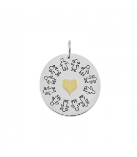 Silver pendant children circle
