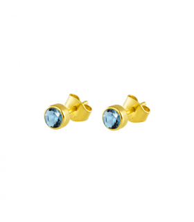 5mm zirconia stone earring