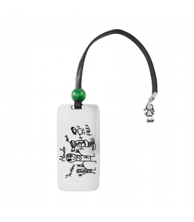 Bookmark with silver drawing