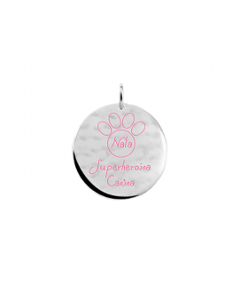 Personalized dog pendant in silver