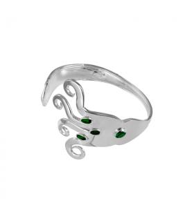 Zirconia fork bracelet