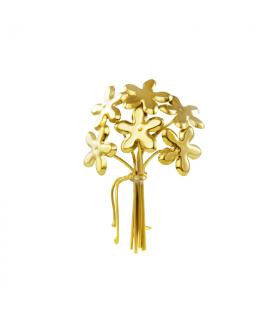 Broche de oro de 6 jazmines