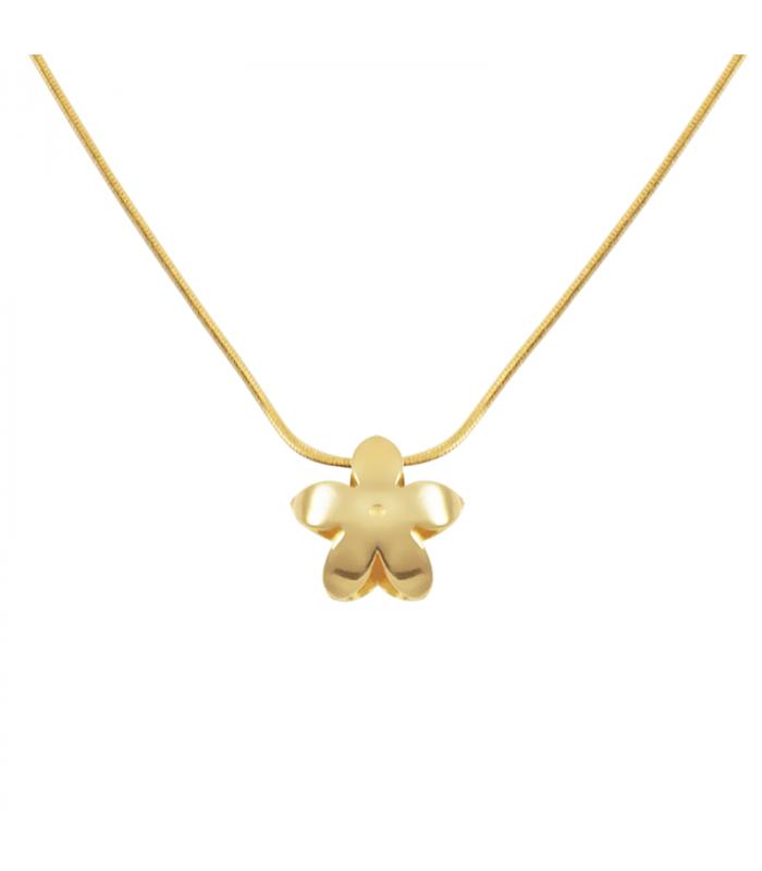 Gold jasmine pendant