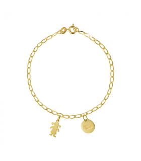 Gold custom bracelet