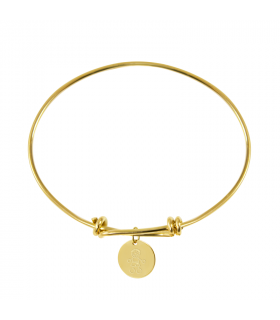 Gold knots bracelet with medal