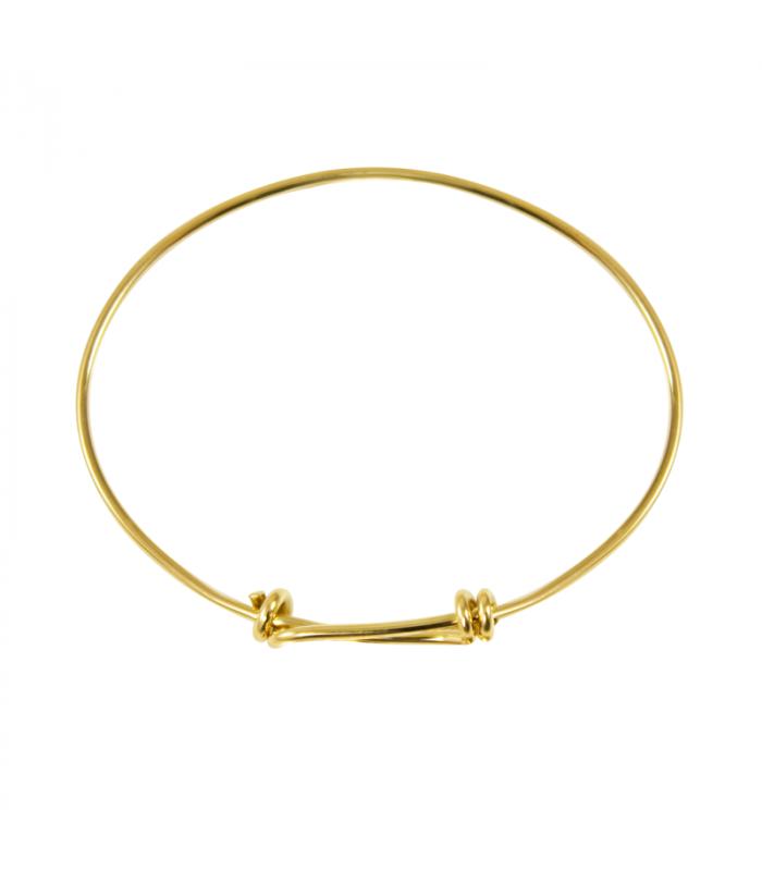 Gold Sliding Knots Bracelet 1 7mm