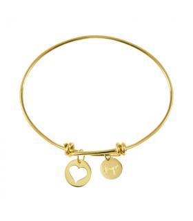 Gold knots bracelet with...