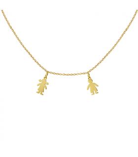 Collar personalizado en oro niños