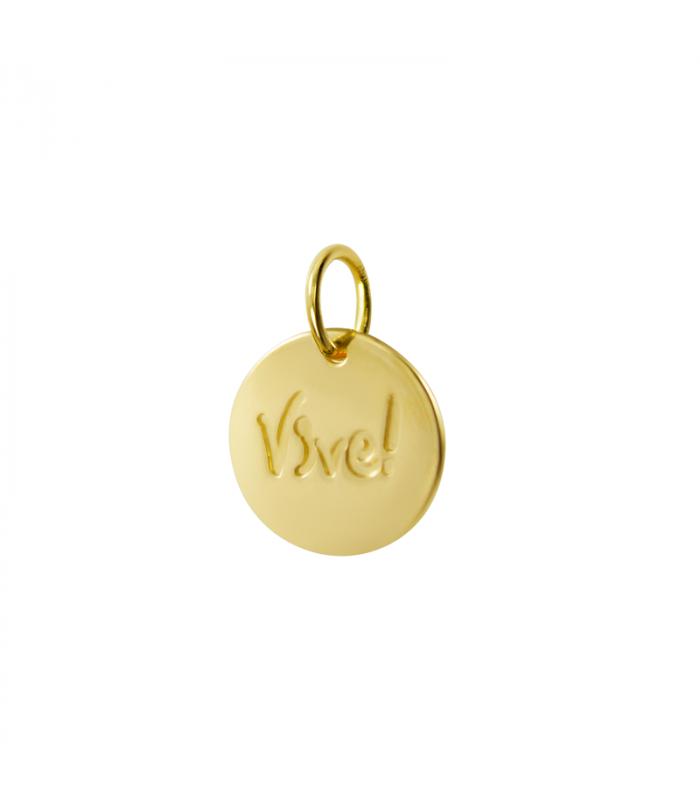 Custom gold pendant