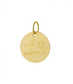 Colgante personalizado oro