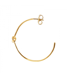 Large gold knotted hoops