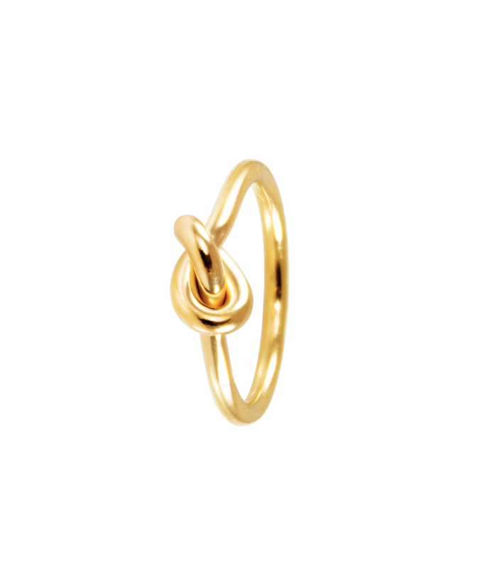 Golden Vesta knot ring