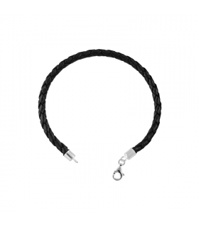 Leather bracelets and silver terminals