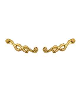 Gold plated rope climbing earring