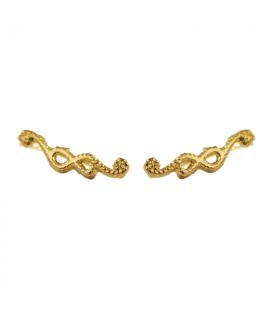 Pendiente trepador cuerda oro baño