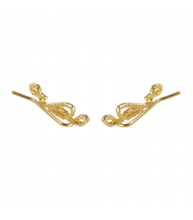 Climbing earring rope gold bath