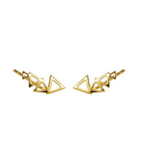 Golden triangle stela earrings