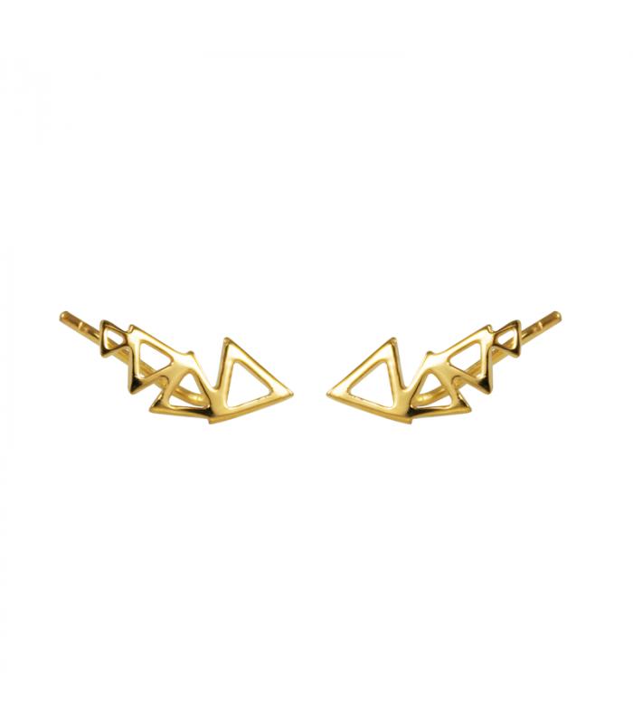 Golden triangle stela earrings