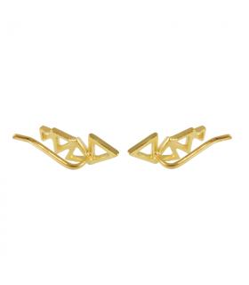 Rear triangle earrings
