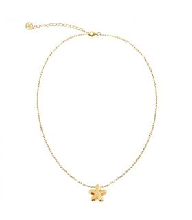 Gold plated jasmine pendant
