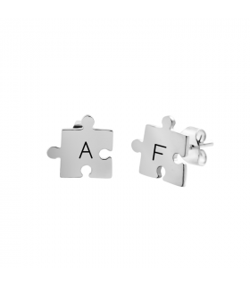 Pendiente puzzle plata