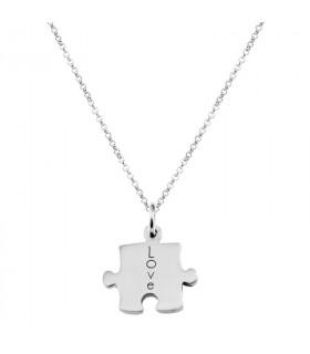 Colgante puzzle plata
