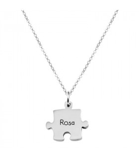 Silver puzzle necklace