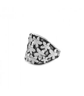 Relief jasmine ring