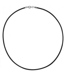 Cordón negro en plata