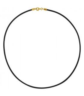 Cordón negro chapado en oro