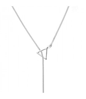 Gargantilla triangulo palito plata