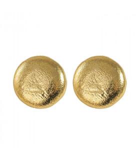 Pendientes círculo dorado