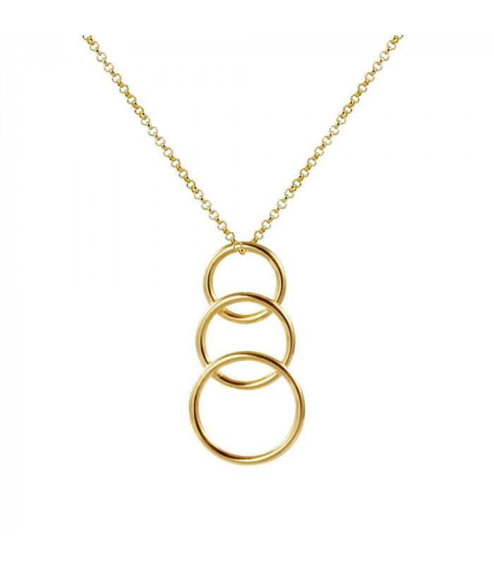 Essential three hoop pendants