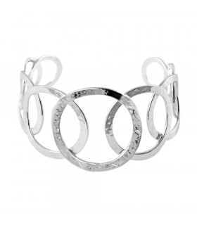 Hoop bracelets with irregular finish
